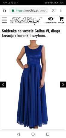 89f0f6ab61 Granatowa długa sukienka suknia Szczecin Centrum • OLX.pl