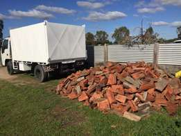 Dried and split redgum firewood delivered.