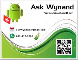 Cellphone / Tablet help available - Just askWynand