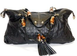 0ae966ca8caf2 Gucci duża pojemna skórzana torba damska tłoczona z frędzlami