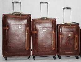 Leather Bags Luggage Shopping/Travel Bag ( 3 Sets in) Honeymood