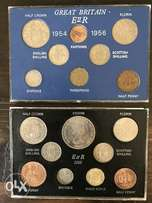 1955 and 1965 British coin sets
