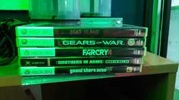 5 Latest Xbox 360 games, all at 4000.