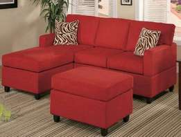 Red affordable couch available for only 510,000