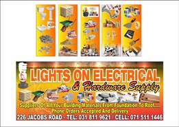Lights on Electrical and Hardware (PTY)LTD