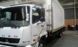 2013 Fuso fridge truck for sale with less than 370 000km on the clock