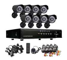 CCTV 8 Camera Security Recording System, Internet & 3G Phone Viewing