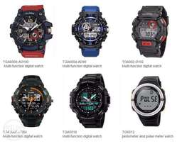 waterproof silicone analog digital watch with japan movement dial wate