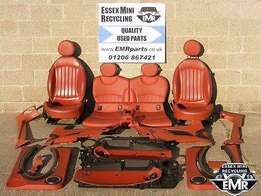 Mini Cooper R50/R52/R53 Red Leather Seats