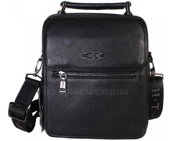 b7bff8fd1d30 Мужская кожаная сумка черный HT из турция (Формат: больше А5) HT Київ -