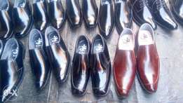 Pure leather male shoes