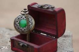 Storage Organizer Gift Box Vintage Jewelry and fob pocket watch gift