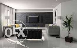 Wallpaper, 3d panel, painting, window blinds, curtain