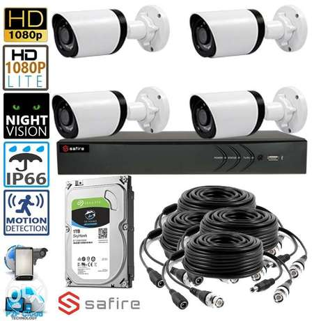 camera HD CCTV system with 4 channe