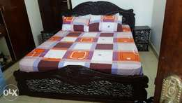 Queen Size Bed, Side Draws & Dressing.