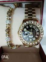 Rolext watch with bangle