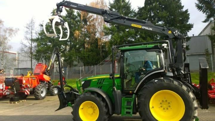 John Deere 6130R Komplettaufbau Ladekran - 2019