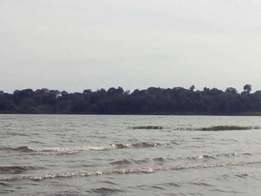 100 acres of land which touches the lake in bukunja each is at 10m