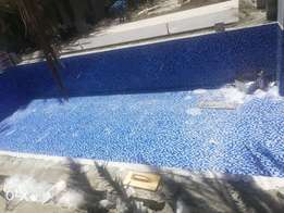 Swimming pool and fountain