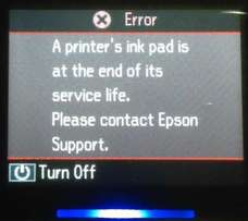 Epson Printer Error, ink Pad, Service Life, Reset Support KEY Centre