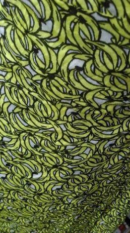 Mango MNG żółta sukienka w banany wiązana wiskoza Warszawa