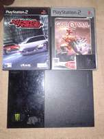 Play Station2 + 2 Game Games & 8MB Memory Card