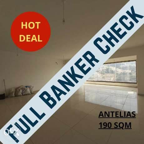 Full banker check, 3bedrooms apartment in Antelias with open view