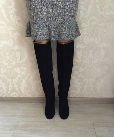 02260d2e321b Chanel оригинал высокие сапоги ботфорты черные замшевые Италия Киев -  изображение 1