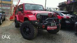 Custom made Red Jeep wrangler 2013 model