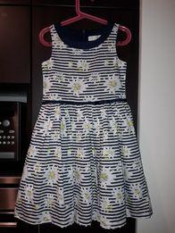 43a69aa2ff NOWA śliczna elegancka wizytowa sukienka rumianki rozm. 122 cool club