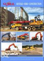 Construction equipments for hire