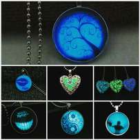 Glow in the dark pendants and dog chains