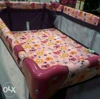 Lovely campcot includes matress ,sheet, pillow and pillowcase R500
