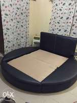 Leather bed stand and set of chair