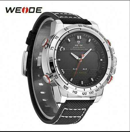 Часы наручные мужские Weide LED цифровой и аналоговый кварц ... 26dd5dd5fece5