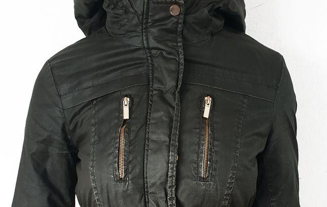 Khaki kurtka PARKA 34 XS, 36 S Atmosphere odpinane FUTERKO
