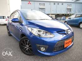 Mazda demio sports 1500cc unique blue with paddle shift fog lights hid
