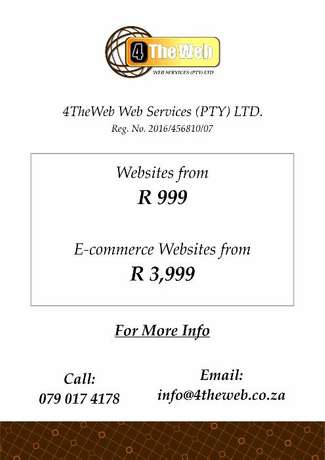 Websites From R999 Pretoria East - image 2