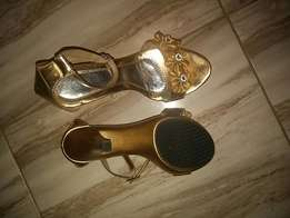 Golden party shoes
