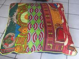 Colorful floor cushions