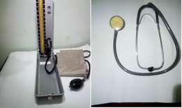 Blood Pressure Kit - Mercury bloop pressure gauge + stethoscope
