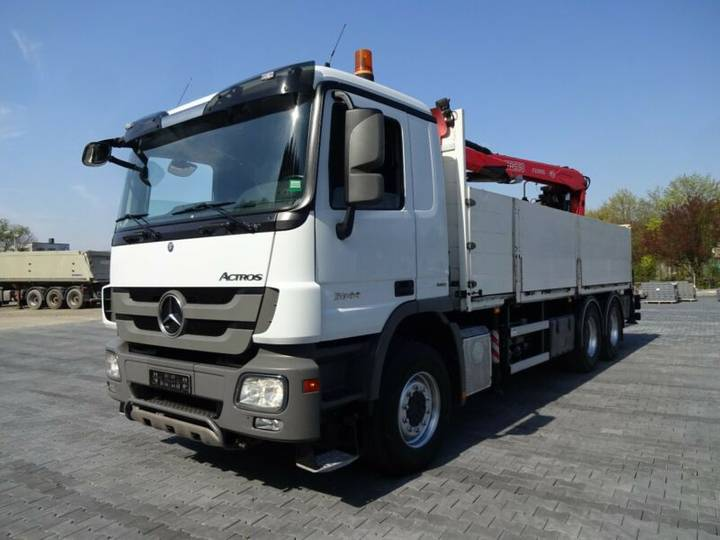 Mercedes-Benz Actros 2644 Baustoff FASSI215 3xhydr. Zange 6x4 - 2011
