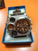 Men Oulm Compass Military Army Windmills Shape Leather