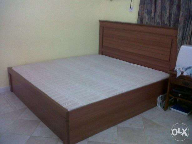 King size bed with mattress in good condition