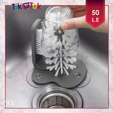 فرشاة تنظيف أكواب مزدوجة Double Brush Suction Cup Cleaner Zezenia - image 1