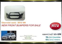 Chevrolet Sonic Hatch New Front bumpers for sale price R2100 .