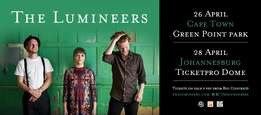 The Lumineers Tickets x3 Cape Town 26 April