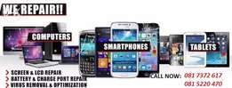 LAPTOP-Cellphone_tablet REPAIR CENTRE & SALES (Pretoria) We fix laptop