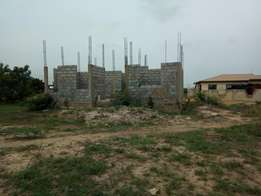 REDUCED FOR QUICK SALE: uncompleted Storey on 2 Plots at New Dawhenya