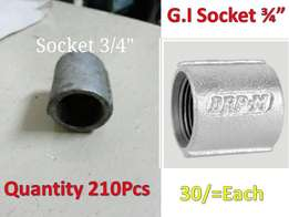"G.I Socket Pipe Fittings clearance 3/4"" Read Info"